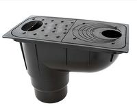 Трап уличный под водосточную трубу черный Ecoteck  нагрузка 1,5т/м.кв