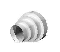 """Соединитель """"ERA"""" центральный круглых воздуховодов (160/150/125/120/100/80) (PU16.15.12,5.12.10.8)"""