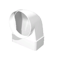 """Соединитель """"ERA"""" угловой 90° плоского воздуховода (55х110/100) (511СК10КП) арт 50312"""