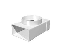 """Соединитель """"ERA"""" Т-образный с выходом на фланец D125 (60х204) (620ТФ12,5П) арт 50317"""