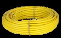 Труба гофр. из нерж.сталь терм. в жёлтой п/э обол. HFPY 15A,для газа,Lavita (50м/бухта)