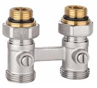 """Узел запорно-присоединительный для нижнего подключения радиаторов 1/2"""" прямой EU.ST6015045 12"""