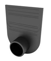 Заглушка-переходник для лотков пластиковых Стандарт 100.95, 100.125 и 100.175 (черный)